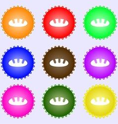 Bread icon sign Big set of colorful diverse vector image vector image