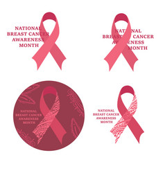 breast cancer awareness month cancer ribbon vector image