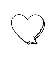 Bubble heart message communication icon vector