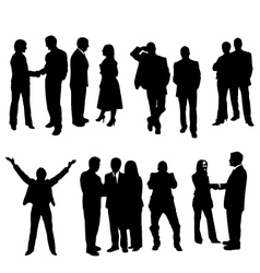 business silhouette vector image vector image