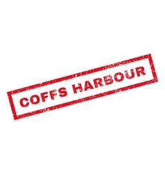 Coffs harbour rubber stamp vector
