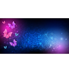 dark background butterfly vector image