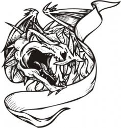 dragon template vector image vector image