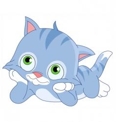 dreamy kitten vector image vector image