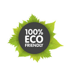 Eco friendly bio badge banners label with green vector