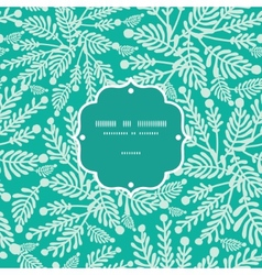 emerald green plants frame seamless pattern vector image vector image