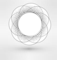 Halftone Flower Design vector image