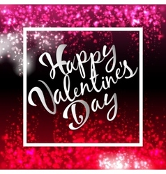 Happy Valentines Day Lettering Postcard Flyer vector image
