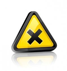 hazard warning sign vector image vector image