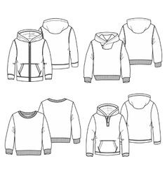 Hoodies 2 White vector image
