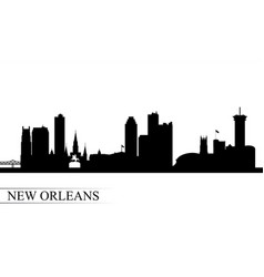 New orleans city skyline silhouette background vector