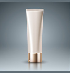 plastic tube - packaging for cosmetics an vector image