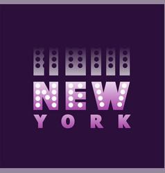 Retro new york logo text word american city vector