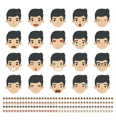 Set of emoticons faces icons eps10 forma vector image vector image