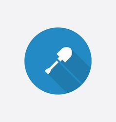 shovel Flat Blue Simple Icon with long shadow vector image