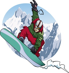 snowboarding 2011 vector image vector image