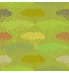 Stylized abstract autumn tree vector image vector image
