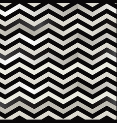 The twin black and white zigzag stripes floor vector