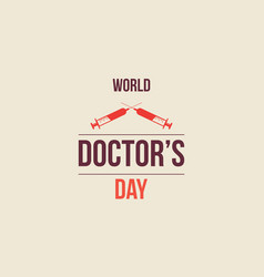 World doctor day greeting card vector