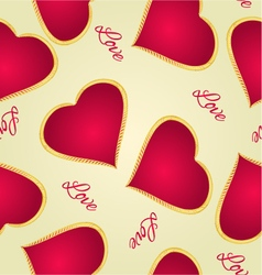 Seamless texture happy valentine day gilded heart vector