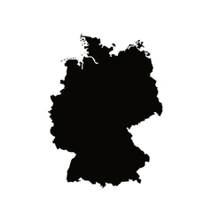 Germany map silhouette icon vector