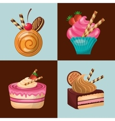 Baked goods daily fresh vector