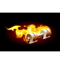 Burning dumbell vector image