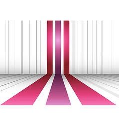 Abstract perspective background with three lines vector image