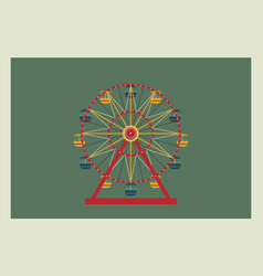 ferris wheel element for your vector image