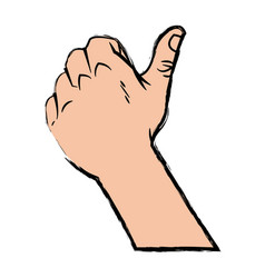 hand man thumb up like gesture image vector image