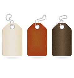 Leather tag vector