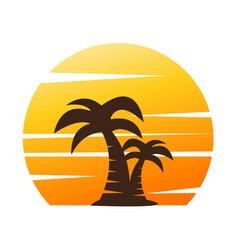 Palm tree image vector