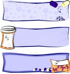 medicine banners vector image