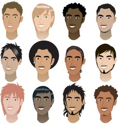 Men faces vector