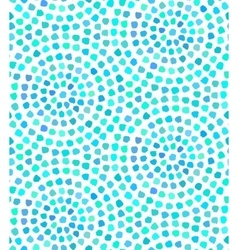 Blue dots painted seamless pattern vector