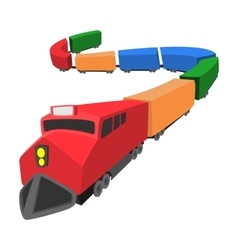 Locomotive cartoon icon vector