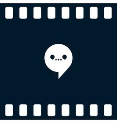 Dialog web icon vector