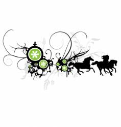abstract-floral-horse-background vector image