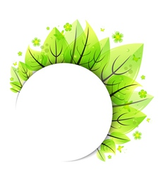 Abstract green leaves banner vector