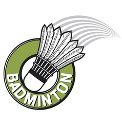 Badminton label vector