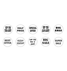 Balls with promotional offers seasonal and vector