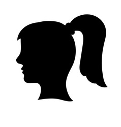 Black womans head outline vector