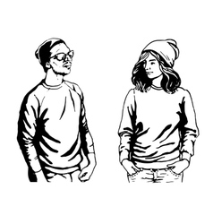 Cute of young people in vector