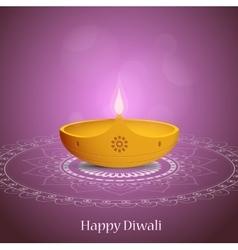 Diwali greeting card design vector