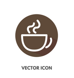 doodle cup icon vector image