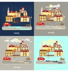 Four types of weather vector
