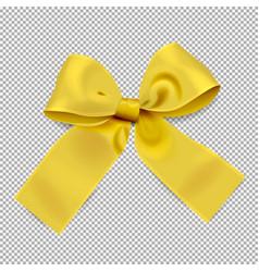 golden ribbon on transparent background vector image vector image