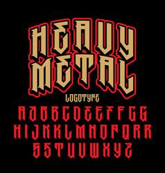 Heavy metal alphabet vector