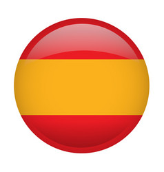 Isolated flag of spain vector
