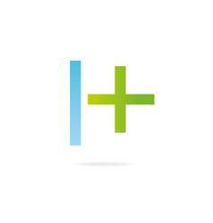 letter h logo design template elements cross vector image